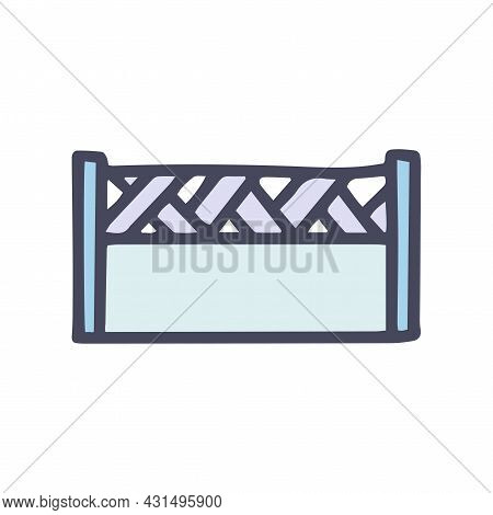 Cement Fence Color Vector Doodle Simple Icon