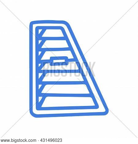 Ventilation Grill For Car Line Vector Doodle Simple Icon