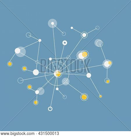 Vector Illustration With Connect Elements. Technical Network Background