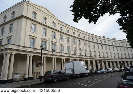 London, U.k. July 22, 2021 - Portland Place British Bbc Media Building In London Unite Kingdom.