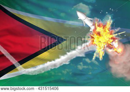 Strategic Rocket Destroyed In Air, Guyana Ballistic Missile Protection Concept - Missile Defense Mil