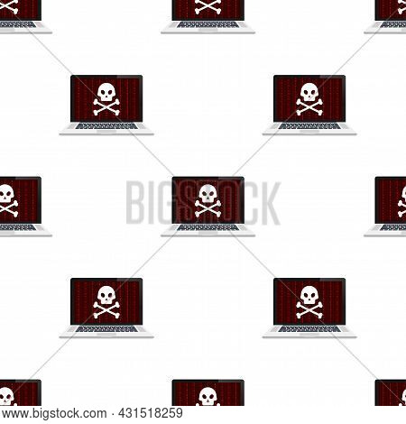 Cyber Security Concept Pattern. Cyber Security Concept. Virus Protection. Vector Stock Illustration.