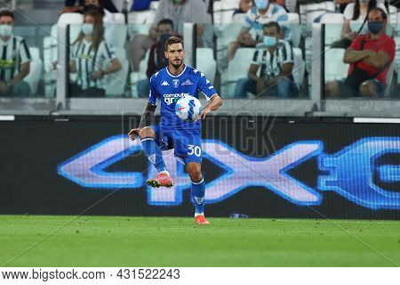 Torino, Italy. 28 August 2021. Petar Stojanovic Of Empoli Fc  Controls The Ball During The Serie A M