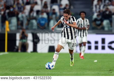 Torino, Italy. 28 August 2021. Federico Chiesa Of Juventus Fc  In Action During The Serie A Match Be