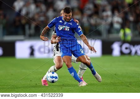 Torino, Italy. 28 August 2021. Patrick Cutrone Of Empoli Fc  In Action During The Serie A Match Betw
