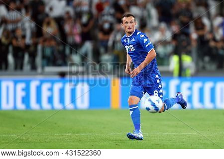 Torino, Italy. 28 August 2021. Liam Henderson Of Empoli Fc  In Action During The Serie A Match Betwe