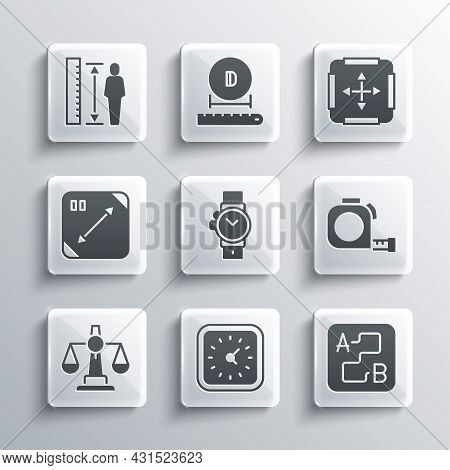 Set Clock, Route Location, Roulette Construction, Wrist Watch, Scales Of Justice, Diagonal Measuring