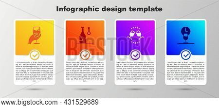 Set Wine Tasting, Degustation, Temperature, And Time. Business Infographic Template. Vector
