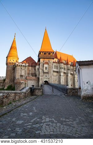 hunedoara Castle, also known a Corvin Castle or Hunyadi Castle, is a Gothic-Renaissance castle in Hunedoara, Romania. One of the largest castles in Europe.