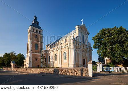 Old Catholic St Nicholas Catholic Church In Svir Village, Myadel District, Minsk Region, Belarus.