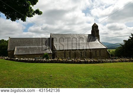 An Exterior View Of The Village Church Building In The Village Of Ford In Northumberland.