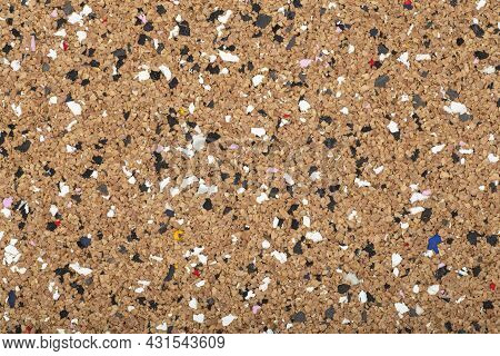 Cork Board Background. Cork Surface Texture For Notes, Notifications And Sticky Notes For Work Or Sc