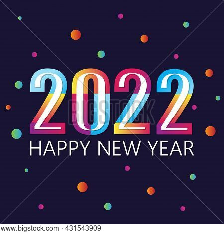 2022 Happy  New Year Insta Color Banner. 2022 Design Greetings, Invitations And Banner Or Background