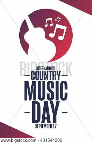 International Country Music Day. September 17. Holiday Concept. Template For Background, Banner, Car