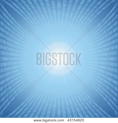 Abstract Binary Code Background. Vector Illustration.