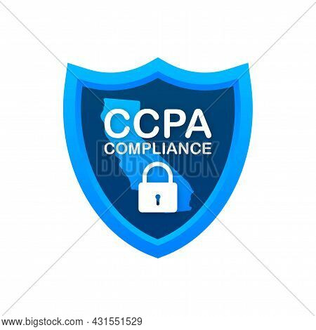 Ccpa, Great Design For Any Purposes. Security Vector Icon. Website Information. Internet Security. D