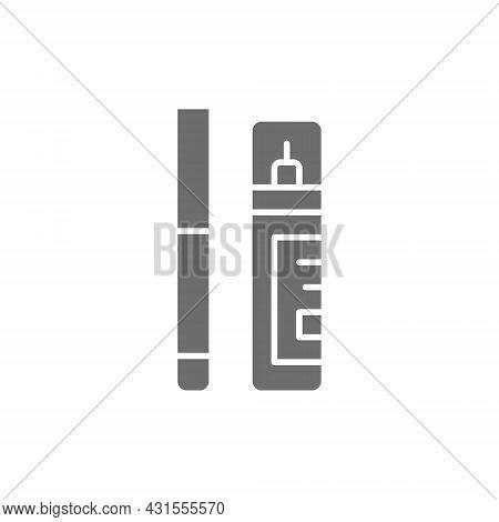 Corrector, Concealer, Eyeliner, Marker Grey Icon. Isolated On White Background