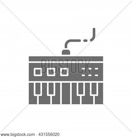 Synthesizer, Synth Grey Icon. Isolated On White Background