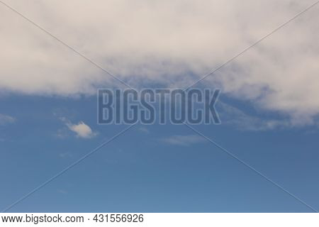 Blue Sky With Gray Clouds In The Daytime For Design Your Work Nature Backdrop.