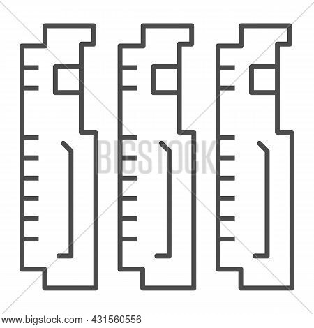 Compact Pcb Three Part Thin Line Icon, Electronics Concept, Printed Circuit Board Fragment Vector Si