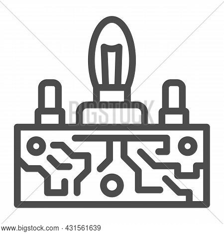 Lampas Pcb Control Line Icon, Electronics Concept, Printed Circuit Board Lamps Vector Sign On White