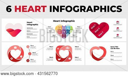 Heart Sign Infographic. Medical Healthcare Concept. Blood Donation, Charity. Creative Vector Illustr