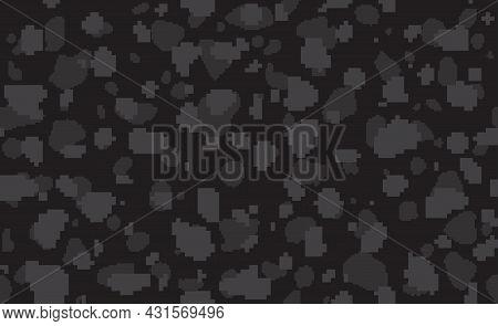 Digital Black Jaguar Or Leopard Fashionable Skin Camouflage. Seamless Pattern, Cheetah Animal Print