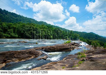 Beautiful Landscape Photography - The River Is Going To Fall Down Athirappilly Kerala