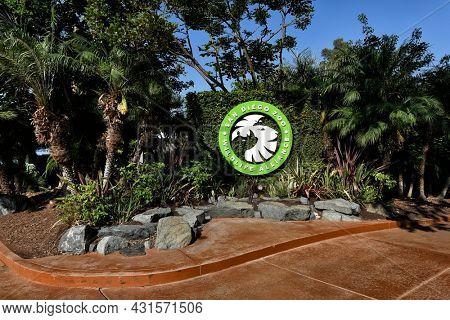 SAN DIEGO , CALIFORNIA - 25 AUG 2021: San Diego Zoo in Balboa Park Wildlife Alliance.
