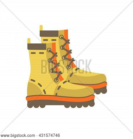 Military Boots, Vector Flat Paintball, Airsoft, Traveling Icon
