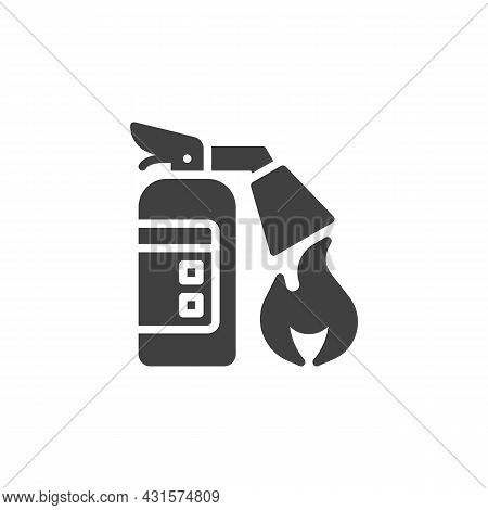 Fire Extinguisher Vector Icon. Filled Flat Sign For Mobile Concept And Web Design. Extinguisher And