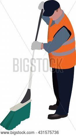 Ecological Operator Worker In Uniform Ecological Operator Worker In Uniform
