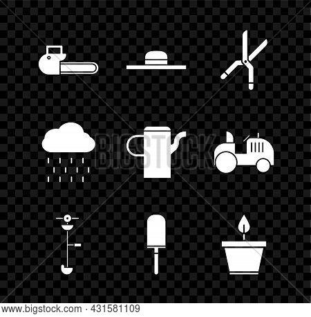 Set Chainsaw, Worker Hat, Gardening Handmade Scissors, Grass Weed Electric String Trimmer, Trowel Sp