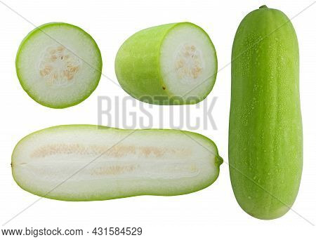 Set Of Wax Gourd  Isolated On White Background