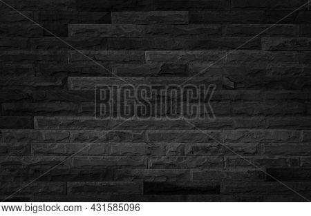 Abstract Dark Brick Wall Texture Background Pattern, Empty Brick Wall  Surface Texture. Brickwork Pa