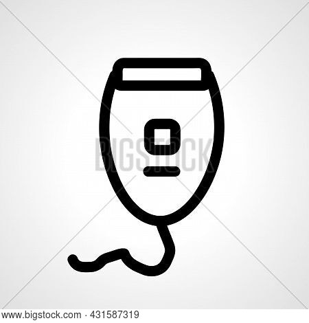 Electric Shaver Line Icon. Electric Shaver Isolated Simple Vector Icon.