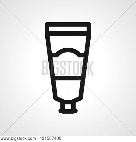 Tube Container For Cream Line Icon. Tube Container For Cream Isolated Simple Vector Icon.