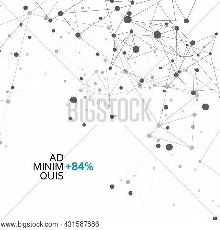Modern Victor Illustration For Decoration Design. Connect Network Dots Background. Lines Vector Tech