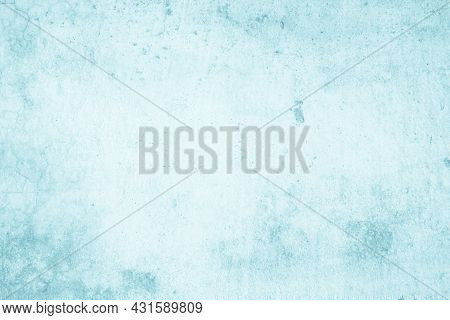 Blue Concrete Wall Of Light Blue Color, Dark Blue Marble Or Cracked Concrete Background As An Abstra