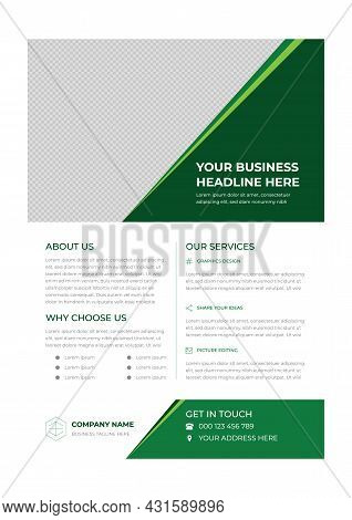 Green And White Creative Modern Business Flyer Design Template