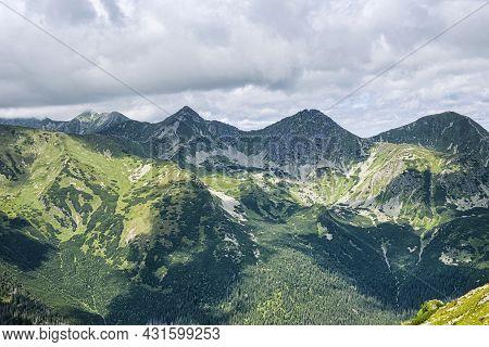 Western Tatras Mountains, Slovak Republic. Hiking Theme. Seasonal Natural Scene.
