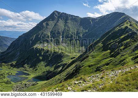 Jakubina Peak And Mountain Lakes, Western Tatras Mountains, Slovak Republic. Hiking Theme.