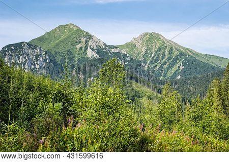 Belianske Tatras Mountains, Slovak Republic. Hiking Theme. Seasonal Natural Scene.