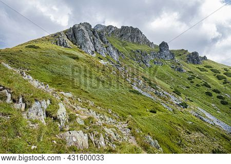 Hlupy Peak From Wide Saddle, Belianske Tatras Mountain, Slovakia Republic. Seasonal Natural Scene. T