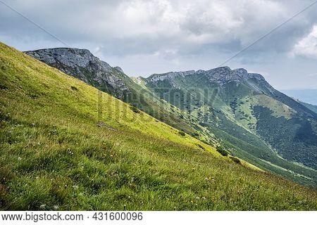 Belianske Tatras Mountain Scenery, Slovakia Republic. Seasonal Natural Scene. Travel Destination.