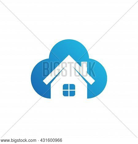 Home Cloud Icon. Home Vector Isolated On White Background. House Logo. House Cloud Vector. Home Illu