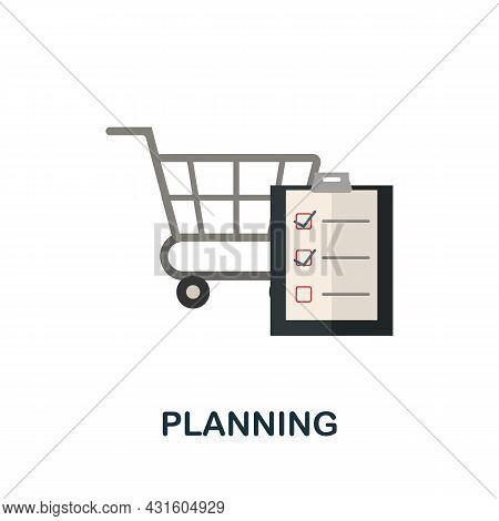 Planning Flat Icon. Simple Sign From Procurement Process Collection. Creative Planning Icon Illustra