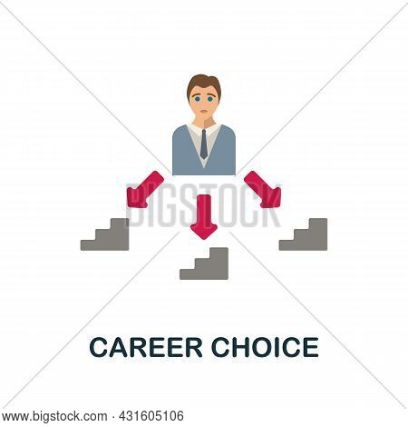 Career Choice Flat Icon. Colored Sign From Productivity Collection. Creative Career Choice Icon Illu