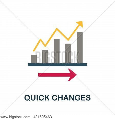 Quick Changes Flat Icon. Colored Sign From Productivity Collection. Creative Quick Changes Icon Illu