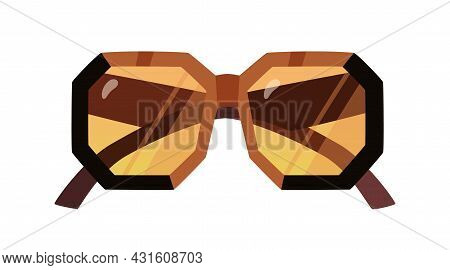 Fashion Stylish Sunglasses With Thick Frame And Octagon-shaped Lenses. Trendy Bold Sun Glasses. Over